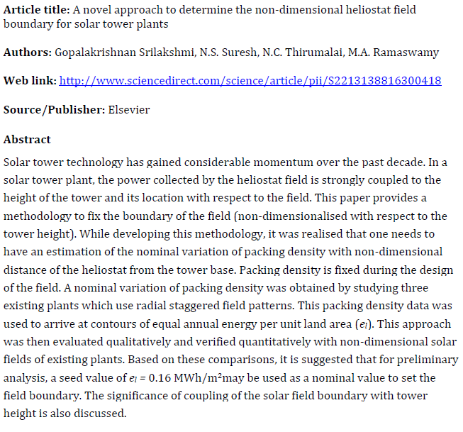 A novel approach to determine the non-dimensional heliostat field boundary for solar tower plants