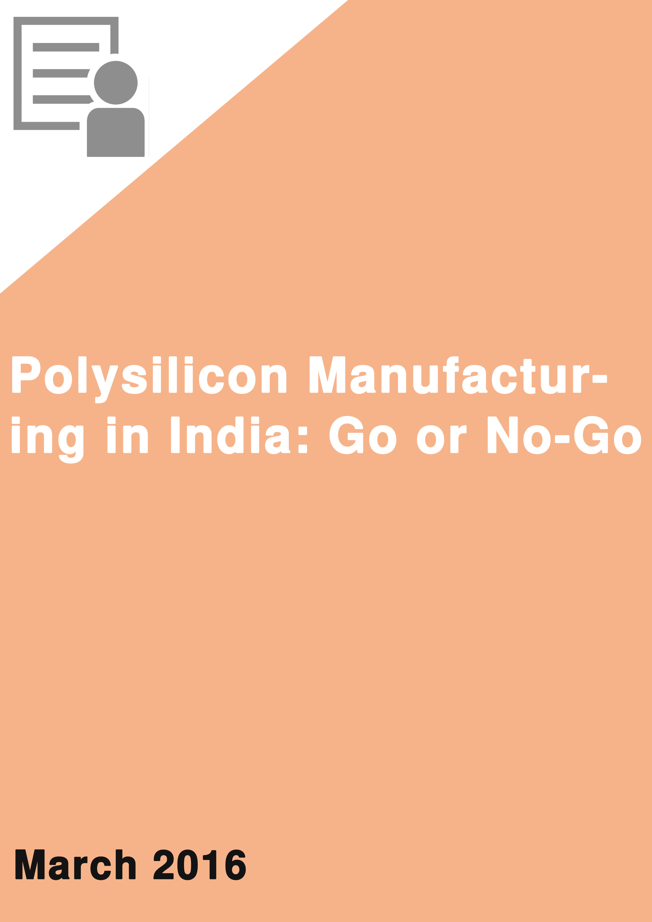 Polysilicon Manufacturing in India: Go or No-Go