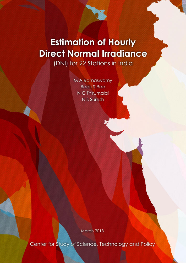 Estimation of Hourly Direct Normal Irradiance (DNI) for 22 Stations in India (Revised)