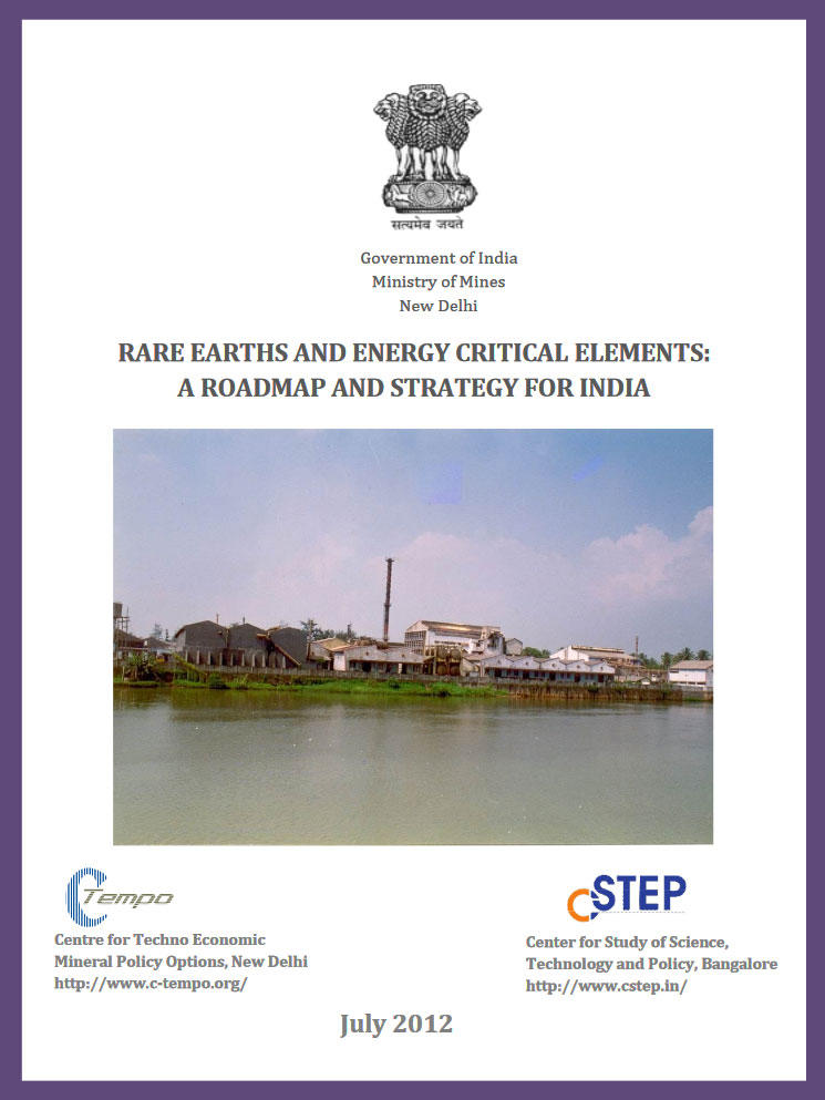 Rare Earths and Energy Critical Elements: A Roadmap and Strategy for India
