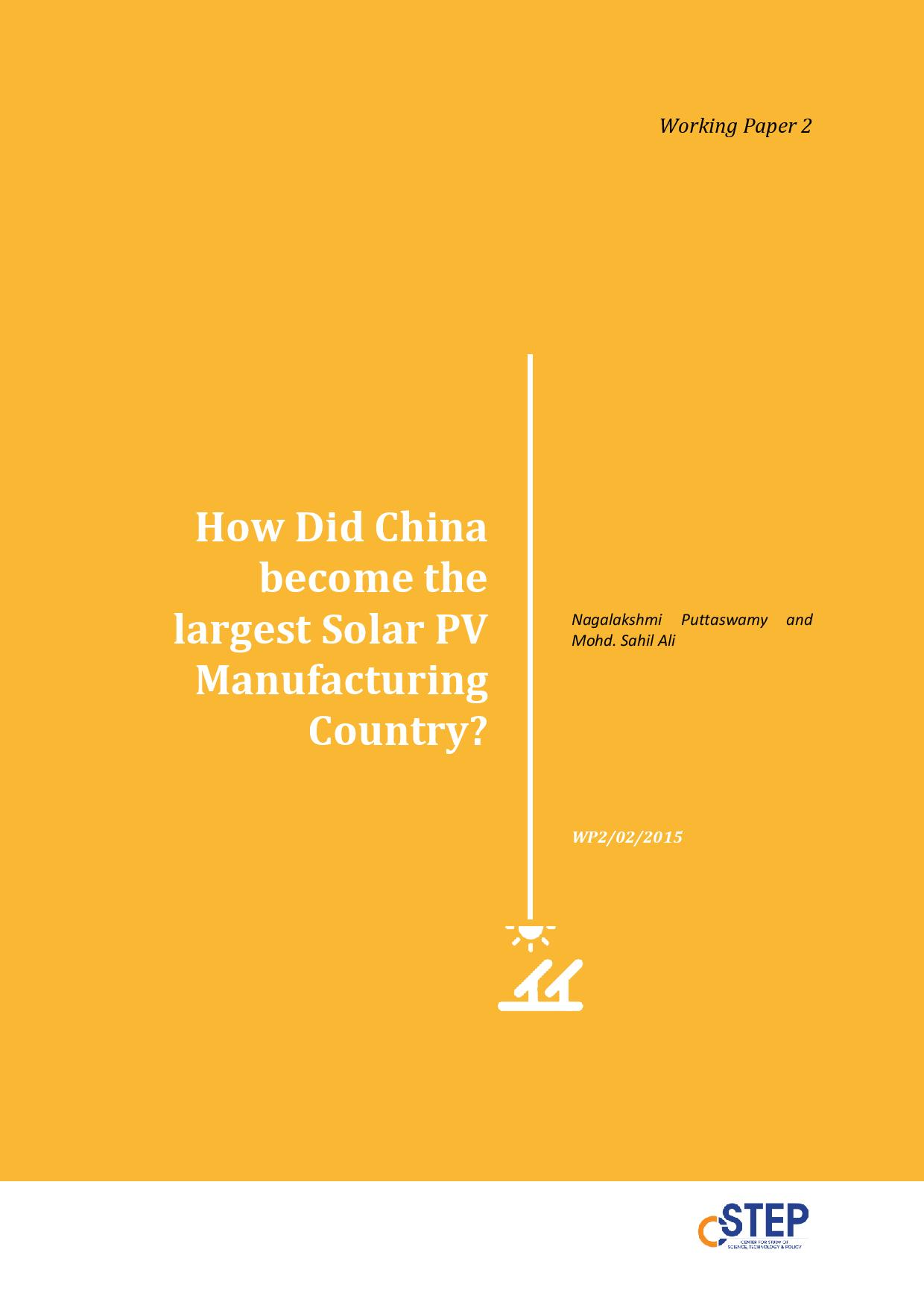 How Did China Become the Largest Solar PV Manufacturing Country?